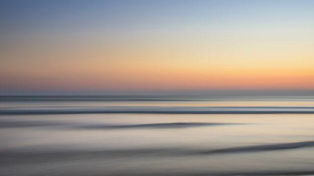 凪 海 空 夕陽
