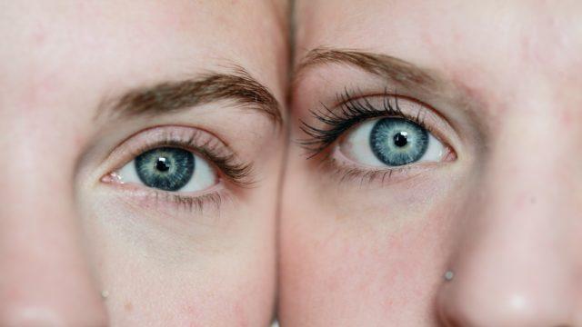 目 双子 女性