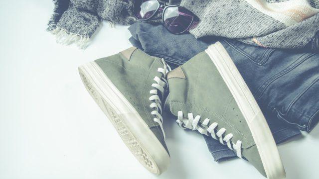靴 ジーンズ