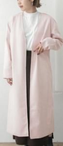 アウター ピンク