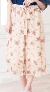 パンツ 花柄